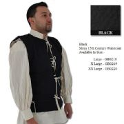 15th Century Waistcoat - Wool / Linen - 2 Colours